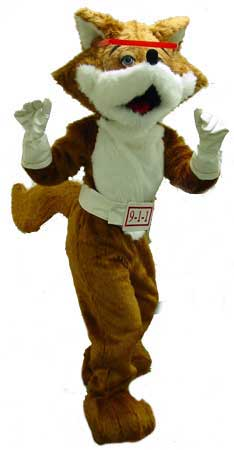 Red E. Fox™ Plus Body Suit Walk-Around Costume