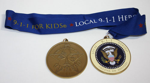 911 Hero's Medal with Neck Ribbon - Color Version