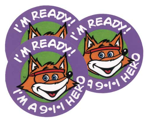 """I'm a 9-1-1 Hero"" Stickers"