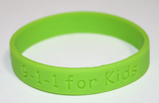 9-1-1 for Kids Wristband 25 Pack