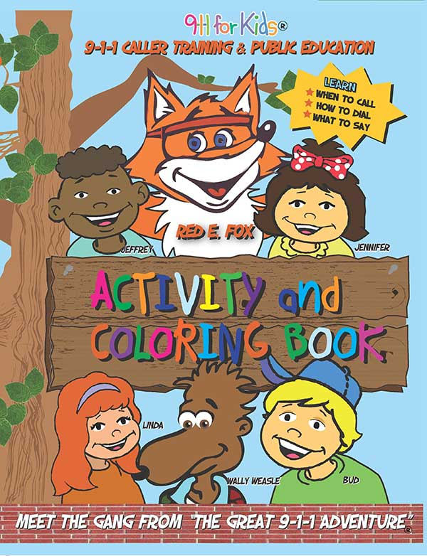 9-1-1 For Kids Safety Coloring Book - Spanish