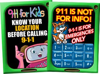 911 Cell Phone Shaped Erasers