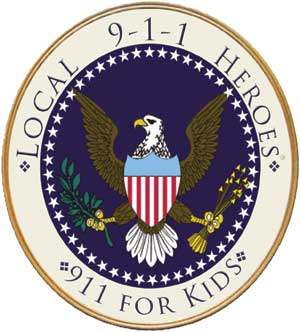 "911 Heroes Medallion 12"" Podium Sign"