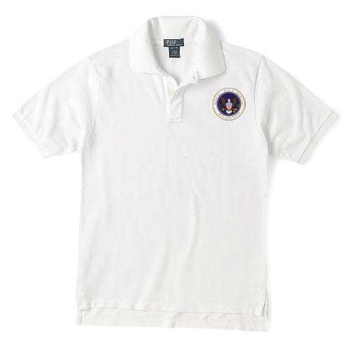911 Hero's White Polo with Medal Logo