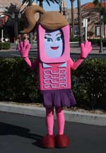 Abby Cell Phone Sister Body Suit Walk-Around Costume